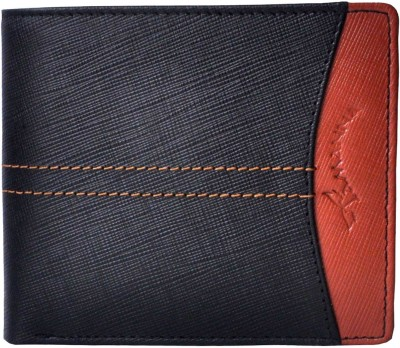 Tamanna Men Black, Tan Genuine Leather Wallet(8 Card Slots)