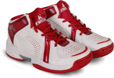 Kwickk Boys & Girls Lace Basketball Shoes(White)