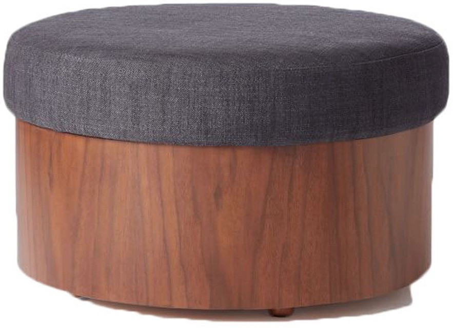View black square Solid Wood Pouf(Finish Color - brown) Furniture (black square)