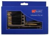 Neo Gold Leaf Calligraphy Set with 6 Nib...