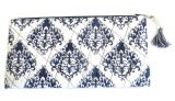 Needlecrest Cotton Quilted Pouch (Blue)