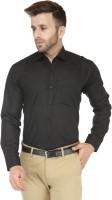 Enchanted Drapes Formal Shirts (Men's) - Enchanted Drapes Men's Solid Formal Black Shirt