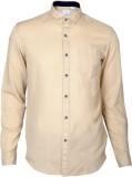 IVYN Men's Self Design Casual Beige Shir...
