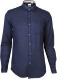 IVYN Men's Self Design Casual Dark Blue ...