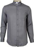 IVYN Men's Self Design Casual Grey Shirt