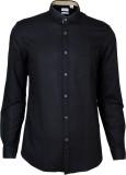 IVYN Men's Self Design Casual Black Shir...