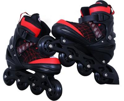 Running adjustable In-line Skates - Size 7-9 UK(Black)