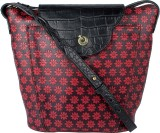 Holii Women Red, Black Genuine Leather S...