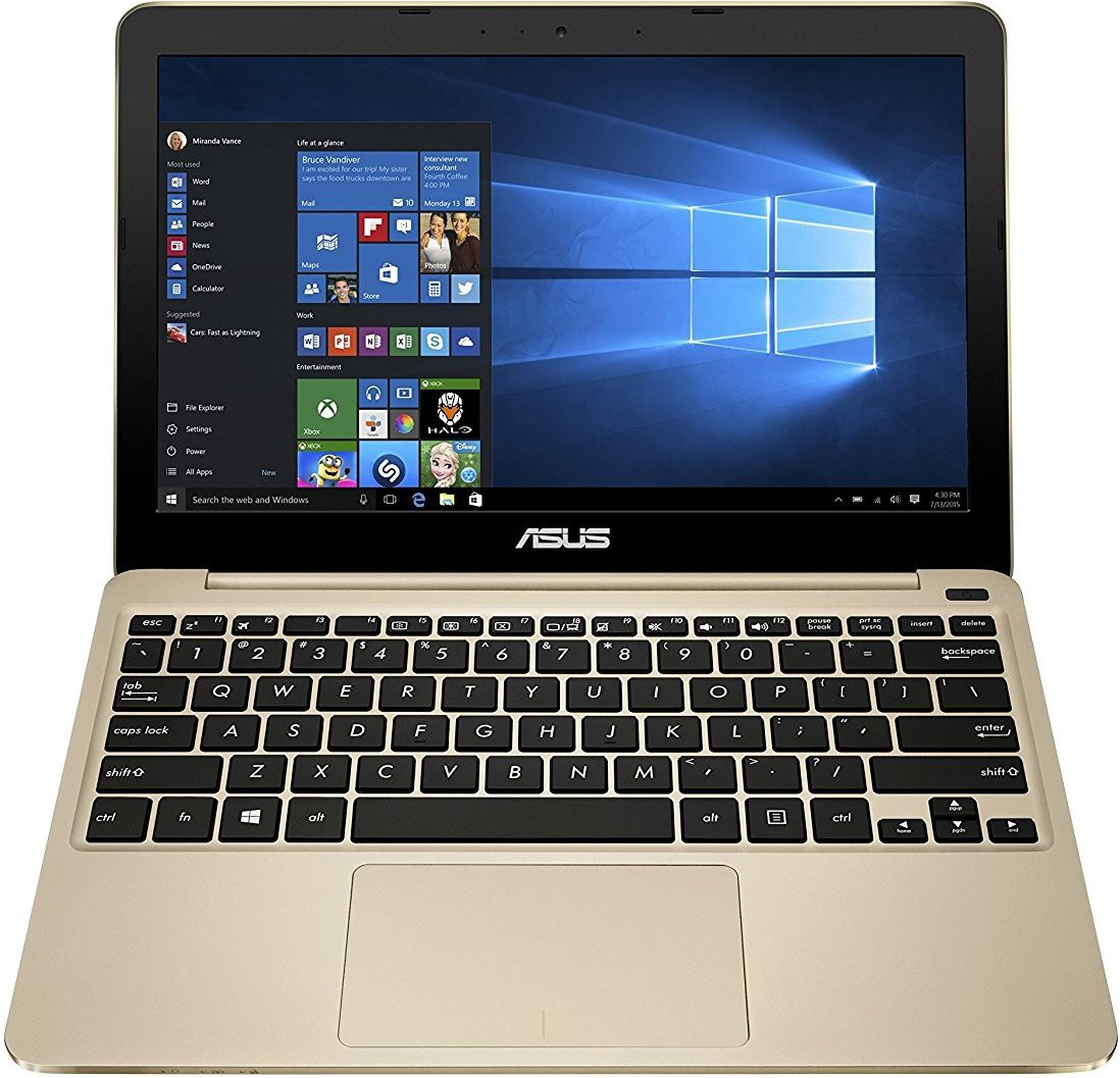 View Asus eebook series Atom 5th Gen - (2 GB/32 GB EMMC Storage/Windows 10) E200HA-FD0043T Netbook(11.6 inch, Gold) Laptop