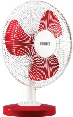 Usha New Mist Air Duos Red 3 Blade Table Fan(Red) 400mm