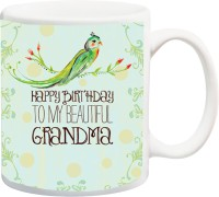 iZor Gift for mum/maa/mother/mummy/Grandmaa;happpy birthday to my beautiful grandma printed Ceramic Mug
