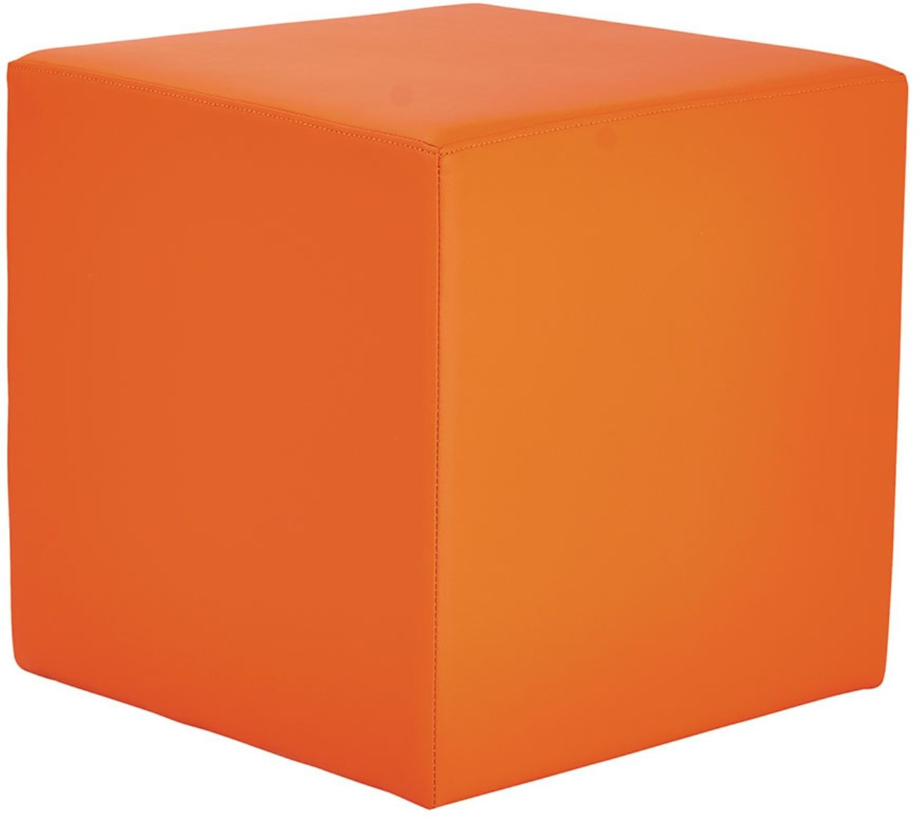 View Black Square Engineered Wood Standard Ottoman(Finish Color - Orange) Furniture (black square)