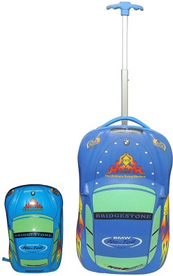 Fortune Kids Car Shape Cabin Luggage - 18 inch(Blue)