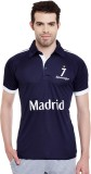 Sportigo Solid Men's Polo Neck Dark Blue...