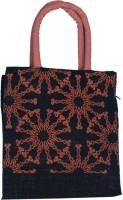 ABV traders Travel Bag,Lunch Bag, Jute Bag, Hand-Held Bag, Carry Bag, Multipurpose Bag, Black Jute Printed Waterproof Lunch Bag(Black, 5 inch)