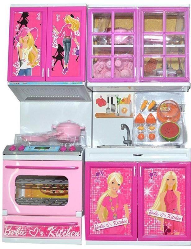 Techhark Barbie vogue Modern Kitchen set For Kids(Pink)