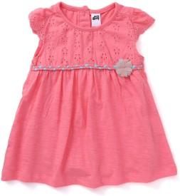 Spring Bunny Baby Girl's Midi/Knee Length Casual Dress(Pink, Cap Sleeve)