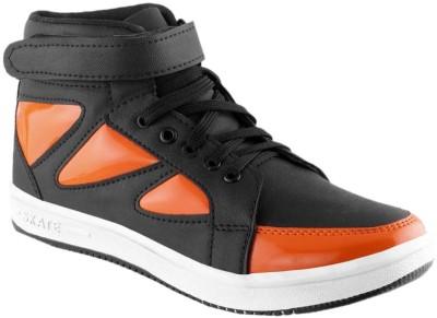 Clerk Boys Velcro Casual Boots(Orange)