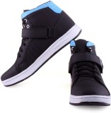 Clerk Boys Velcro Casual Boots (Blue)