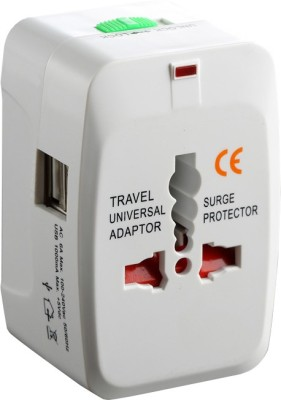 Futaba All in One Universal International Plug Adapter 2 USB Port 10 Adapter(Power Cord Included)