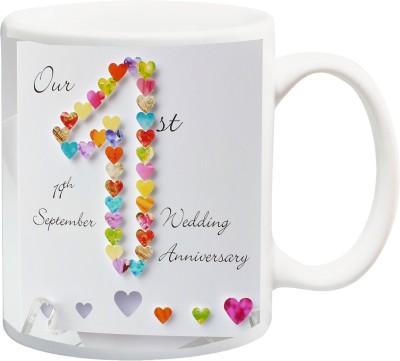iZor Gift for Husband/Wife/Boyfriend/Girlfriend/Couple On Valentine's Day Or Anniversary;Our 1ST 19th September wedding Annivarsery Special printed Ceramic Mug(325 ml) at flipkart