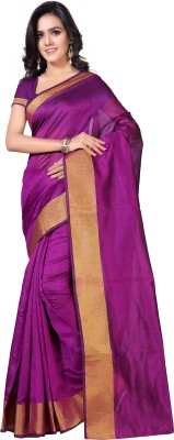 VIMALNATH SYNTHETICS Solid Fashion Raw Silk Saree(Pink)