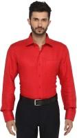 Jadeblue Formal Shirts (Men's) - JadeBlue Men's Checkered Formal Linen Red Shirt