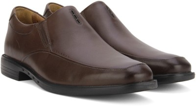 Clarks Slip On Shoes(Brown) at flipkart