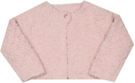 Mothercare Self Design Round Neck Casual Girls Pink Sweater