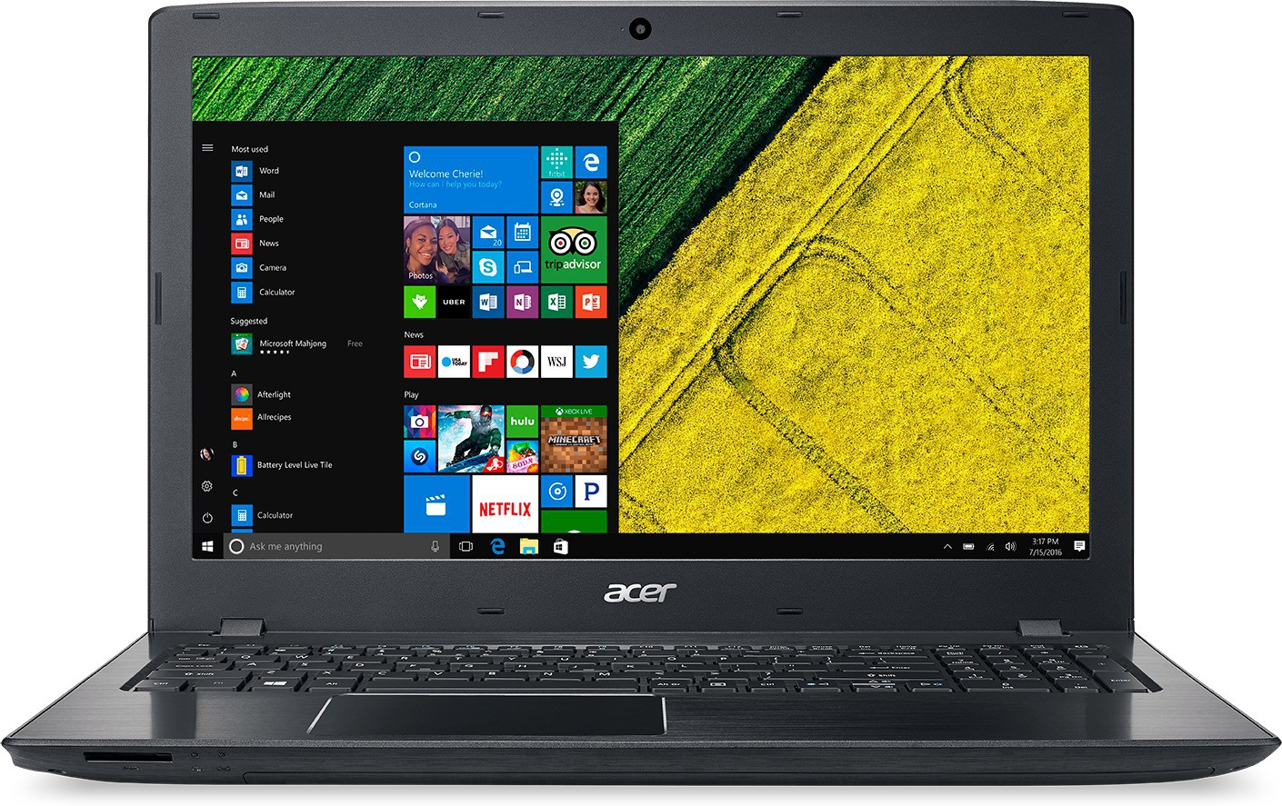 View Acer Aspire APU Quad Core A4 - (4 GB/500 GB HDD/Windows 10 Home) NX.GKYSI.010 ES1-523 Notebook(15.6 inch, Black, 2.4 kg) Laptop