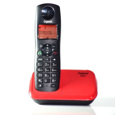 Gigaset A450 Cordless Landline Phone(Black Red)