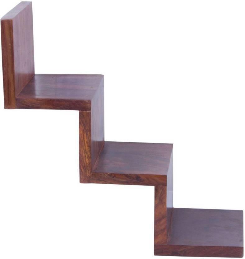 View Khan Handicrafts Wooden Wall Shelf(Number of Shelves - 1, Brown) Furniture (Khan Handicrafts)