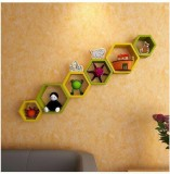 Khan Handicrafts Wooden Wall Shelf (Numb...