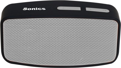 Sonics SL-BS144 FM Portable Bluetooth Laptop/Desktop Speaker(Silver, Black, 2.1 Channel)
