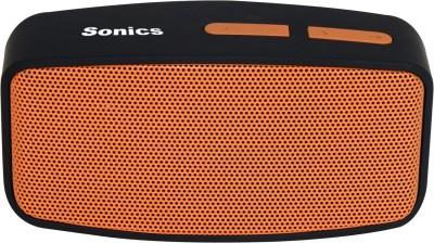 Sonics SL-BS144 FM Portable Bluetooth Mobile/Tablet Speaker(Orange, Black, 2.1 Channel)