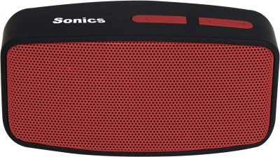 Sonics SL-BS144 FM Portable Bluetooth Mobile/Tablet Speaker(Red, Black, 2.1 Channel)