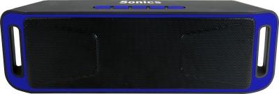 Sonics SL-BS113 FM Portable Bluetooth Mobile/Tablet Speaker(Blue, Black, 2.1 Channel)