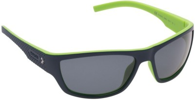 Polaroid PLD7007S-63C3-RNB Wrap-around, Sports Sunglasses(Grey)