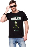 T Shirts (Men's) - Modum Printed Men's Round Neck Black T-Shirt