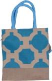 ABV traders Lunch Bag, Jute Bag, Hand-Held Bag,Carry Bag, Multi Purpose Bag, Medium Size, Blue Color Waterproof Lunch Bag (Blue, 5 inch)