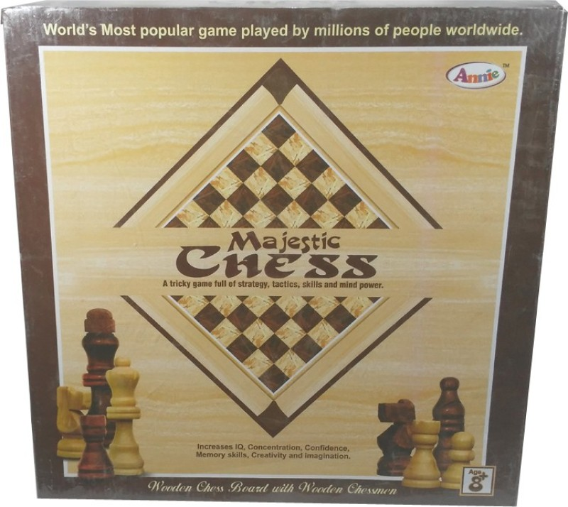 HALO NATION Majestic Wooden Chess - Annie Board Game