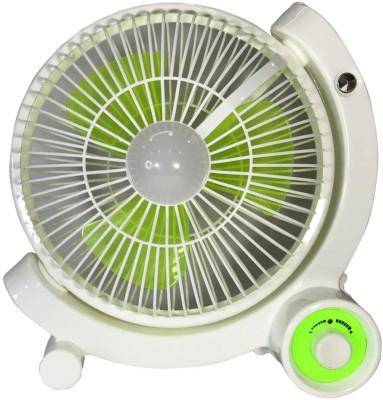 Home Delight Rechageable battery Fan with Emergency Light 3 Blade Wall Fan(White)