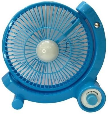 Home Delight Rechageable battery Fan with Emergency Light 3 Blade Wall Fan(Blue)