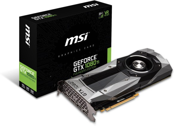 MSI NVIDIA GeForce GTX 1080 Ti Founders Edition 11 GB GDDR5X Graphics Card(Black)