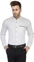 Enchanted Drapes Formal Shirts (Men's) - Enchanted Drapes Men's Solid Formal White Shirt