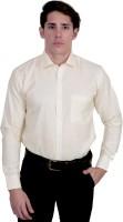 Kalrav Formal Shirts (Men's) - Kalrav Men's Self Design Formal Yellow Shirt