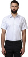 Formal Shirts (Men's) - Raymond Men's Striped Formal White Shirt