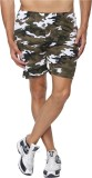 Goodtry Printed Men's Green Basic Shorts