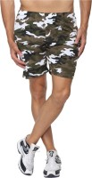 Cargos (Men's) - Goodtry Printed Men's Green Basic Shorts