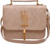 tap fashion Women Beige PU Sling Bag